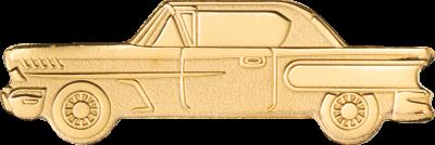 Palau - 2021 - 1 Dollar - Golden Classic Car small gold