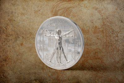 Cook Islands - 2021 - 5 Dollars - X-Ray – Vitruvian Man