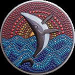 Palau - 2021 - 20 Dollars - Orca Whale / Dot Art series