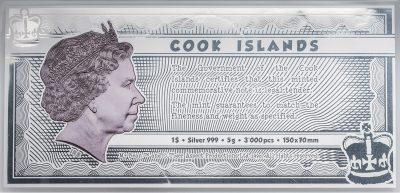 Cook Islands - 2021 - 1 Dollar - Mr. Bean - Silver Note