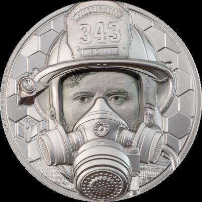 Cook Islands - 2021 - 250 Dollars - Firefighter Platinum - Real Heroes