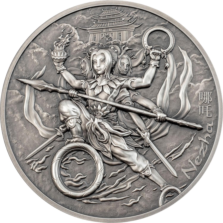 Cook Islands - 2021 - 10 Dollars - Nezha (哪吒) – Mythology Weapons