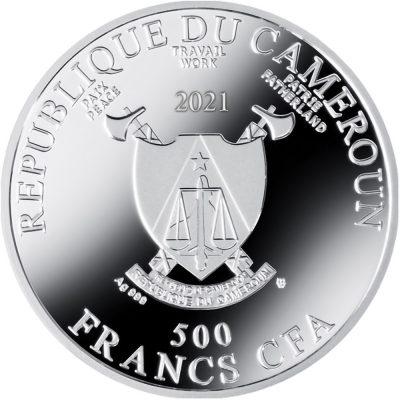 Republic of Cameroon - 2021 - 500 CFA Francs - Self-Portrait at Twenty-Eight