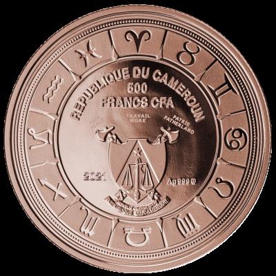 Republic of Cameroon – 2021 – 500 Francs – Leo Zodiac Sign