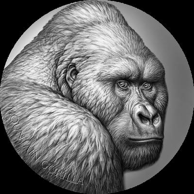 Republic of Cameroon - 2021 - 2000 Francs CFA - Mountain Gorilla