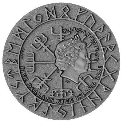 Niue - 2021 - 5 Dollars - Freydis Eiriksdottir
