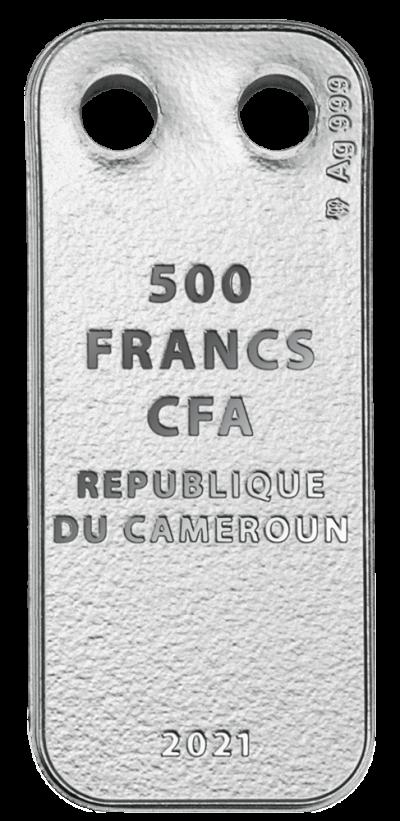 Republic of Cameroon - 2021 - 500 CFA Francs - Love Pendant