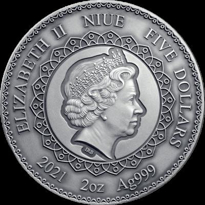 Niue - 2021 - 5 Dollars - Panda