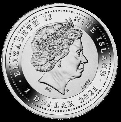 Niue - 2021 - 1 Dollar - Solar Scarabaeus