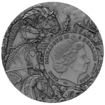 Niue - 2021 - 5 Dollars - Pale Horse