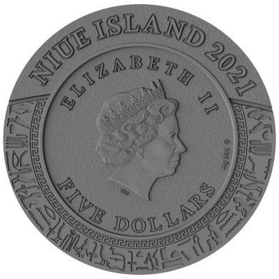 Niue - 2021 - 5 Dollars - Sods of Anger Sekhmet