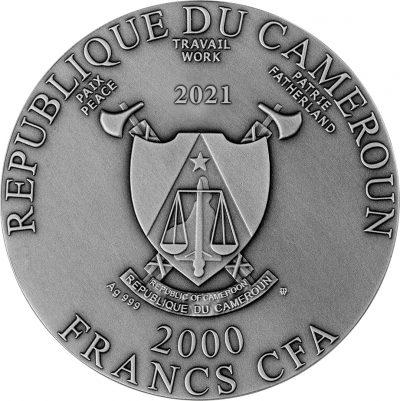 Republic of Cameroon - 2021 - 2000 CFA Francs - Hippocampus