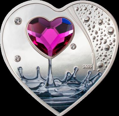 Cook Islands - 2022 - 5 Dollars - Valentine's Day Brilliant Love 2022