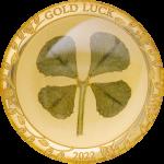 Palau - 2022 - 1 Dollar - Four Leaf Clover in Gold