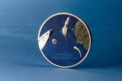 Palau - 2022 - 5 Dollars - Side View American Alligator
