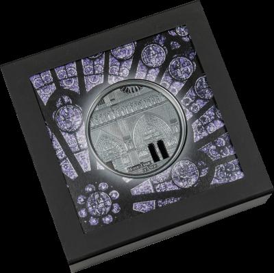 Palau - 2021 - 25 Dollars - Tiffany Art Metropolis Paris 5oz silver BP