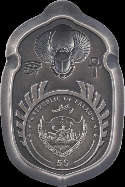 Palau - 2021 - 5 Dollars - Scarab King Tut