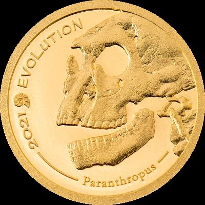 Mongolia - 2021 - 1000 Togrog - Evolution of Life HOMINIDAE small gold