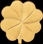 Palau - 2022 - 1 Dollar - Golden Clover Shape