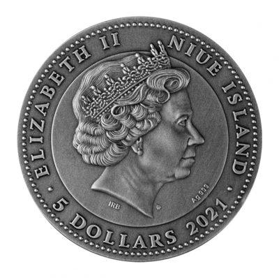 Niue - 2021 - 5 Dollars - Crystal Scarabaeus