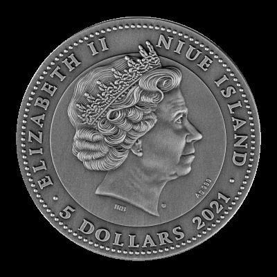 Niue - 2021 - 5 Dollars - Guan Yu