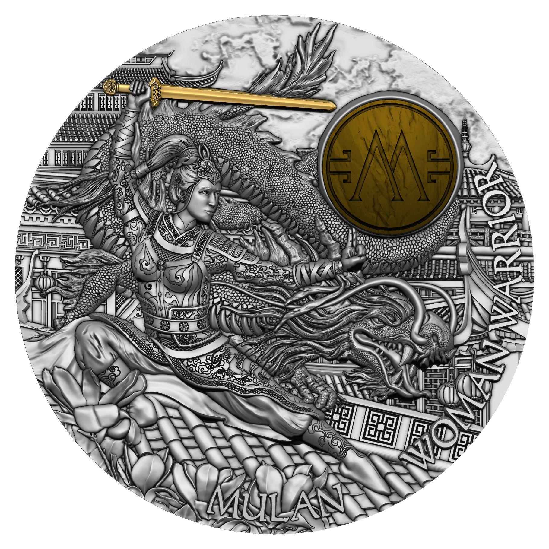 Niue - 2021 - 5 Dollars - Woman Warrior Mulan
