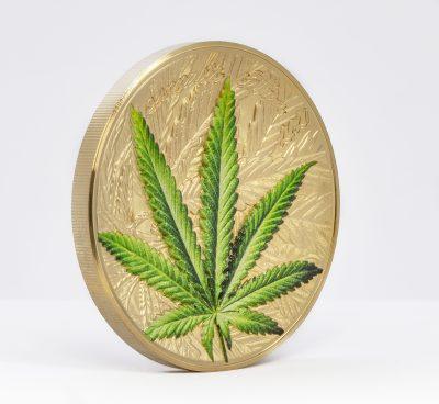 Benin - 2021 - 1000 Francs - Cannabis Sativa Gilded