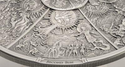 Palau - 2021 - 20 Dollars - Aztec Five Suns